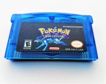 Pokemon Liquid Crystal Version Nintendo Game Boy Advance gba gba sp (Fan Made Game) Gameboy