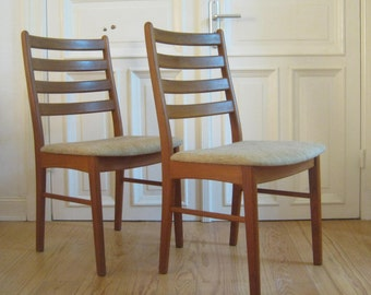 Two Teak Chairs From The Korup Stolefabrik, Denmark From The 60s
