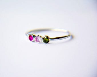 Birthstone Mothers Ring-Gift for Mother Ring- Birthstone Mothers Ring-Birthstone Gift for Mom Ring-Family Ring-Personalized Birthstone Ring