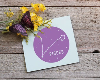 Zodiac Sign Vinyl Decal | Pisces