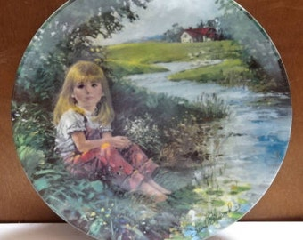 Dominion China Decorative Collectors Plate/A Quiet Moment by Stewart Sherwood/Collectable/Vintage/1987