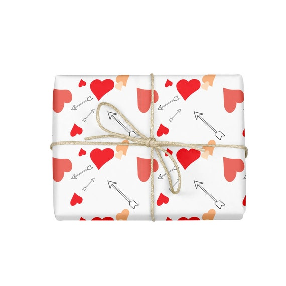 wrapping paper valentines day wrapping paper arrow wrapping paper hearts wrapping paper bachelorette gift wrap wrapping paper sheet from - Valentines Day Wrapping Paper