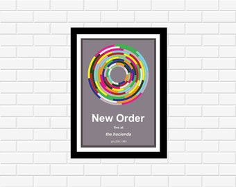 New Order Hacienda Concert Poster 1983