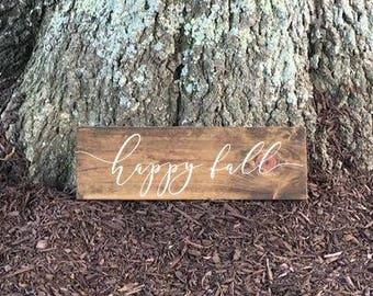 Happy Fall Sign, Autumn Decor, Fall Decor, Fall Sign, Autumn Sign, Rustic Fall Decor, Rustic Autumn Decor, Wood Fall Sign, Fall Decorations