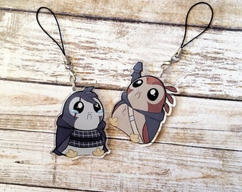 The Last Jedi Star Wars Porg Charm - Rey and Kylo Ren