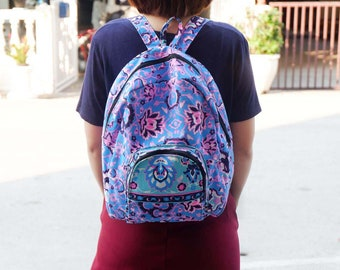 Small Canvas Backpack, Travel Backpack, School Bag