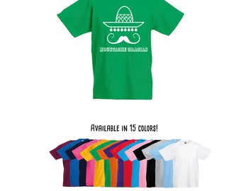 Moustache gracias shirt, mexican shirt, funny shirt, kids shirt, toddler shirt, mustache shirt, sombrero shirt, jokes shirt, mexican jokes