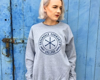 Greendale Community College | Grey Sweatshirt/Jumper