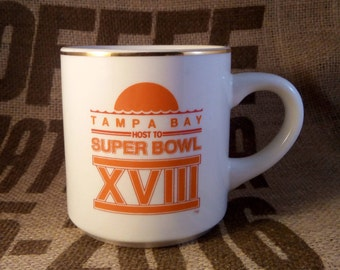 Super Bowl XVIII Cup - 1984 Oakland & Washington in Tampa, Florida