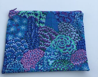 Blue Flower Pouch - Large