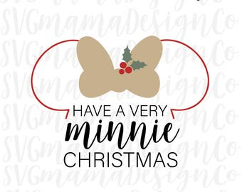 Minnie Mouse Christmas SVG PNG DXF Disney Vector Image Cut File for Cricut and Silhouette