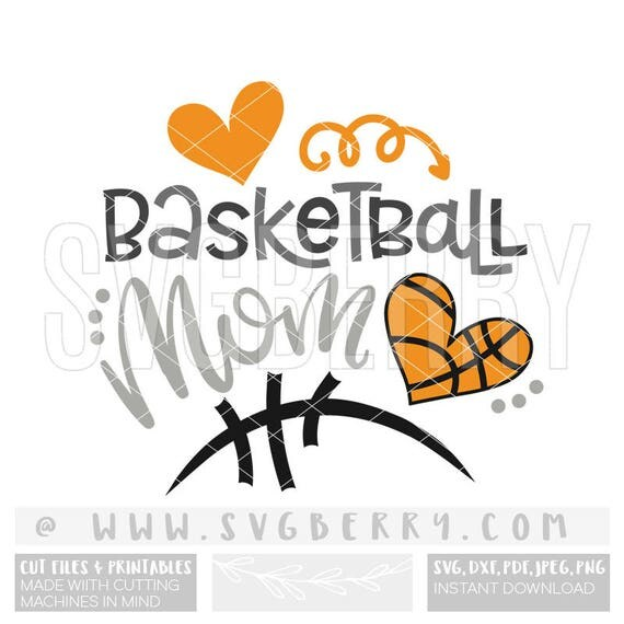 basketball fan clipart. basketball mom svg / shirt tshirt heart iron on fan gifts for applique cut files bo clipart