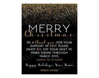 Rodan + Fields Merry Christmas Discount Card