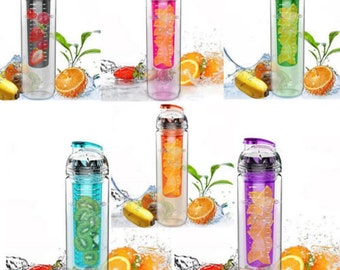 SALE - New Portable Fruit Infuser Water Lemon Juice Health Bottle Flip Lid Cup
