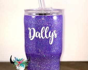 Kids 14oz Coldee - Custom Glitter Dipped Stainless Steel Tumbler Cup
