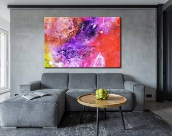 Painting On Canvas, Large Abstract Art, Contemporary Art, Canvas Painting, Abstract Painting, Acrylic Painting, Large Artwork, Palette Knife