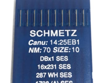 Schmetz Industrial Sewing Machine Ball Point Needles -Single Needle Industrial Sewing Machines Pack of 10 Needles. Choose Your Size