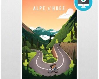 Alpe d'Huez - Printable Art