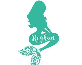 Mermaid Name Sticker Etsy - Mermaid custom vinyl decals for car
