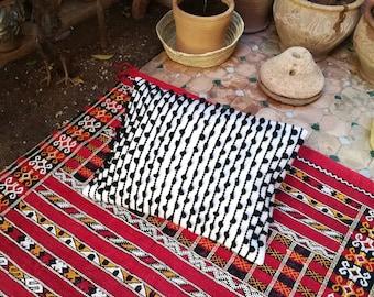 Beautiful thick wool hand woven cushion
