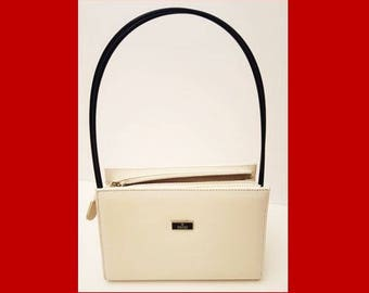 Vintage Gucci White Leather Purse