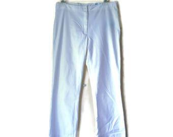 Vintage White Pants, White pants, White cropped pants, Cropped pants, White trousers, White dress pants, White fabric pants, Size 38