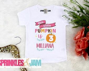 Pumpkin Birthday, Pumpkin 3rd Birthday Shirt, Pumpkin Birthday Outfit, 3rd Birthday Shirt, Third Birthday