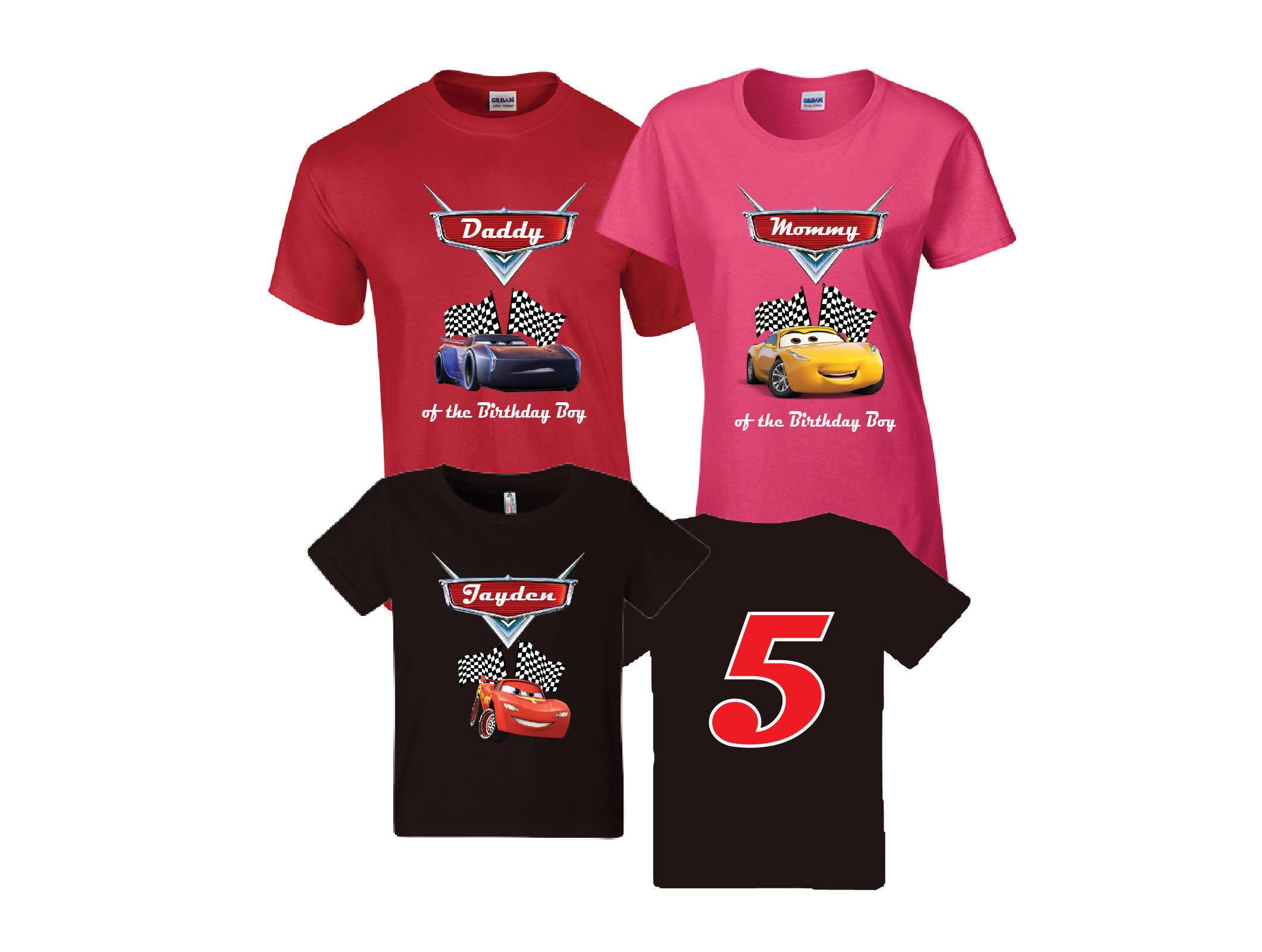 Disney Cars Birthday Shirt Cars Custom Shirt Personalized