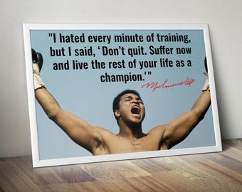 Muhammad Ali  Inspirational Quote Poster