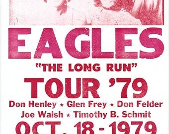 Vintage Music Art - Eagles Long Run Tour  0653