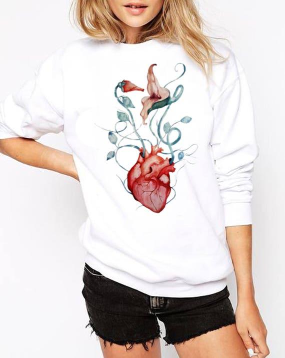 Pink Floyd Love Flowers | Unisex Heavy Blend Crewneck Sweatshirt | Graphic Sweatshirt | Watercolor rock music art| The Wall | ZuskaArt