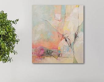 Modern Art, Green Painting, Abstract Art, Acrylic Painting, Original Canvas Painting, Nature Art, Abstract Painting Original, Original Art