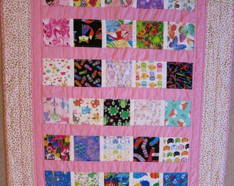 I Spy Quilt, I Spy Blanket, girl quilt, pink quilt, baby quilt, handmade, lap quilt, wall hanging, bedding, toddler quilt