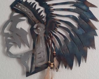 Indian Chief metal art