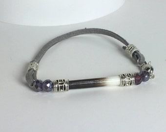 Porcupine Quill Suede Bracelet