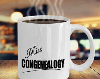 Genealogist Mug, Genealogy Gift, Geneologist, Geneology, Gifts for Genealogists Best Ideas, Family Research, Miss Congenealogy Coffee Cup