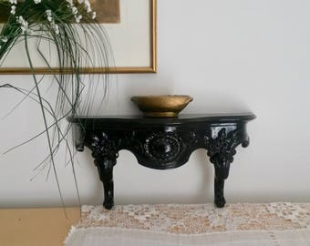 Wall Bracket, Ornate Shelf, Small Wall Shelf, Small Furniture, Lacquered Wall Bracket