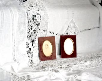 2 Small Oval Frames, Antique Picture Frames, Victorian Frames, Red Felt, Small Antique Frames, 1900s Frames