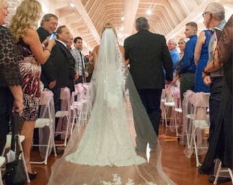 Beautiful Lace Cathedral Veil