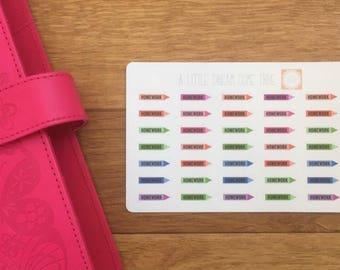 Homework Planner Stickers