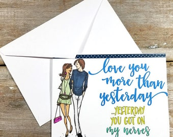 Card for Couple - Anniversary Card - Couples Cards - Funny Anniversary Card for Him - Funny Anniversary Card for Her - Couple Anniversary