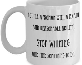 Violet Crawley Quote- Downton Abbey - Lady Crawley - Stop Whining - Coffee Mug - Funny Coffee Cup - Gift For Her - Birthday Gift
