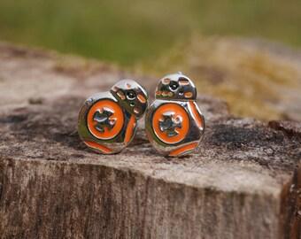Cufflinks BB8 Star Wars - BB8 Robot - Orange and Silver White
