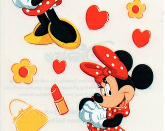 Minnie Mouse Disney Stickers Scrapbook Embellishments Cardmaking Crafts Sandylion