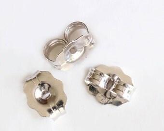 14K 10K Gold Lightweight Earring Back Replacement Clutch Earring Backs Ear Post Nuts | Pair