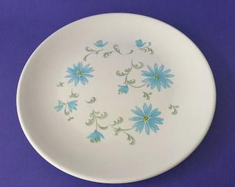 Vintage Ornamin Ware Melmac 'Blue Daisy' Plate