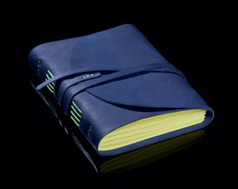 Leather Notepad А5 Colors Indigo Green
