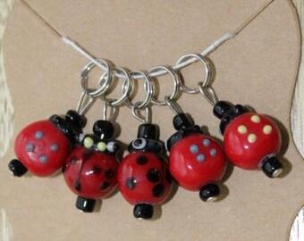 Ladybug Stitch Markers