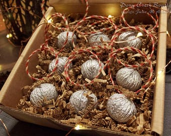 Rustic Black Walnut Christmas/Holiday Ornament (set of 9)