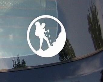 Mountain Climbing -Car Sticker Decal with Mountains, Vinyl Sticker, Bumper Sticker, Vinyl Decal, Adventure, Car Window Decal, Laptop Sticker
